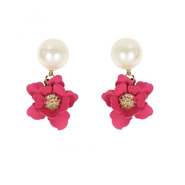 Earrings, PEARLY FLOWER
