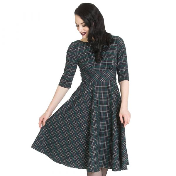 Swing Dress, PEEBLES 50's Green (4734)