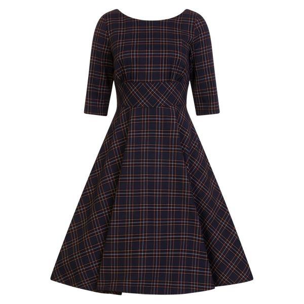 Swing Dress, PEEBLES 50's Navy (4734)