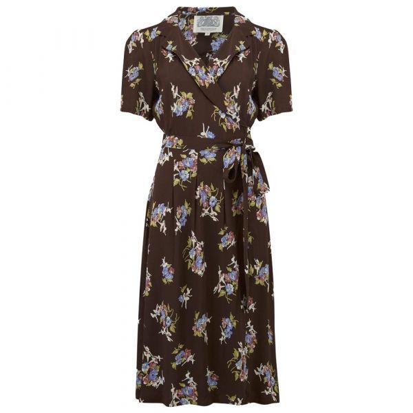 Mekko, SEAMSTRESS OF BLOOMSBURY Peggy Wrap Brown Floral