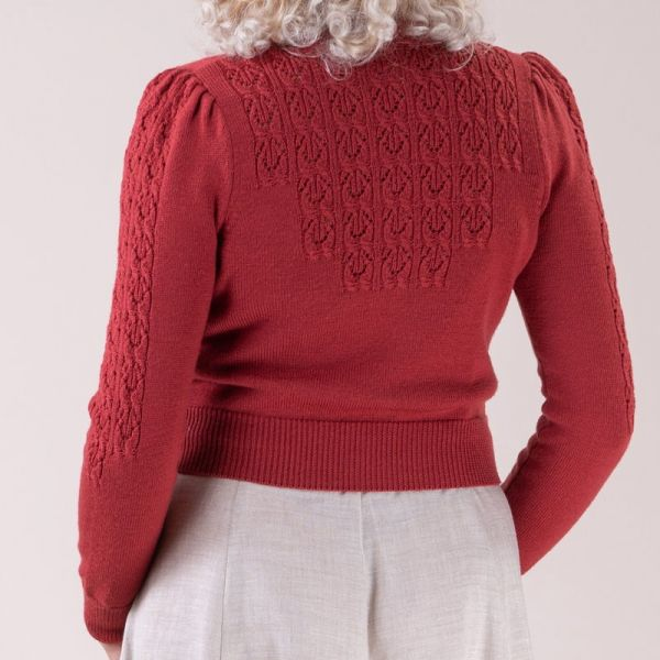 EMMY Cardigan, Peggy Sue Brick Red