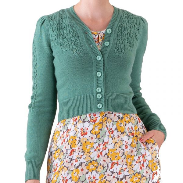 EMMY Cardigan, Peggy Sue Celadon Green