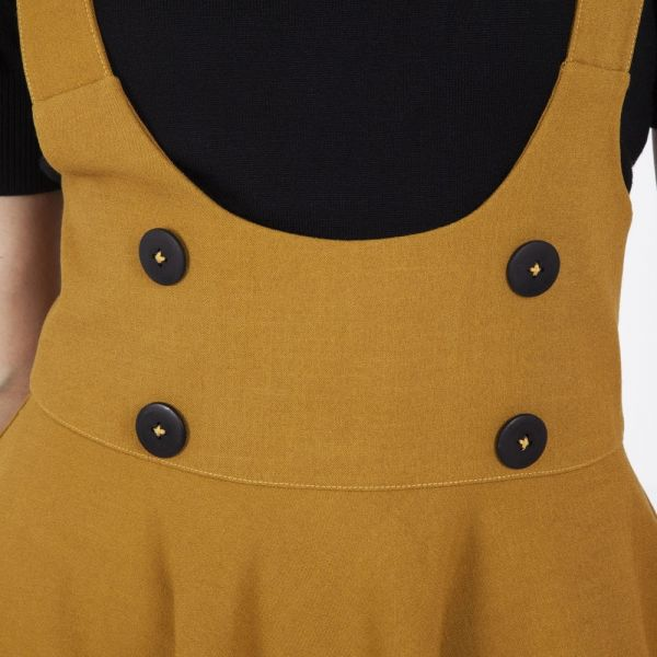 Overall Skirt, PHOEBE Mustard Brown (3464)