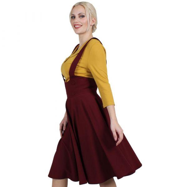 Overall Skirt, PHOEBE Burgundy (3581)