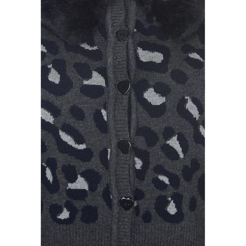 Neuletakki, PIETRA Leopard Harmaa
