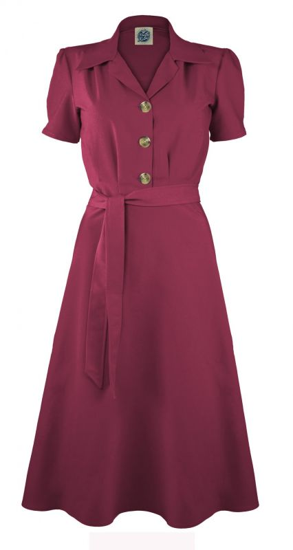 Dress, PRETTY RETRO Shirt Dark Rose