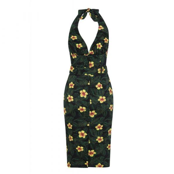 Pencil Dress, RAMONA Tropical Hibiscus