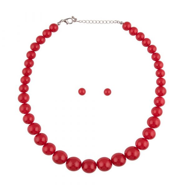 Bead Set, NATALIE Beads Red