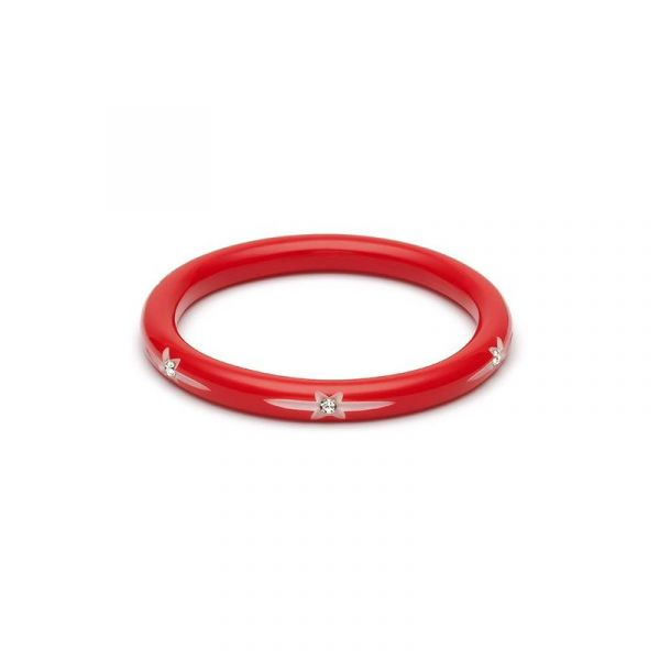 Bracelet, SPLENDETTE Red Starburst Narrow