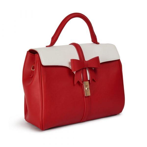 Handbag, ROBERTA BOW Red