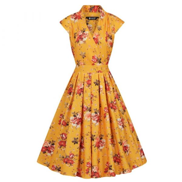 Swing Dress, EVA Royal Yellow