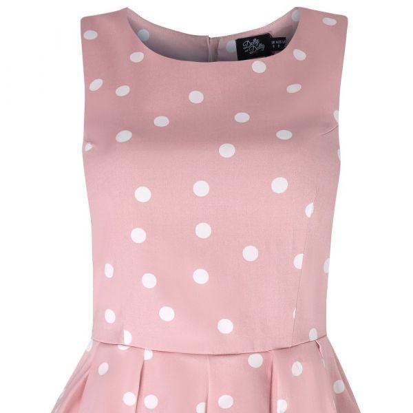 Swing Dress, ANNIE Polka Pale Pink (905-21)