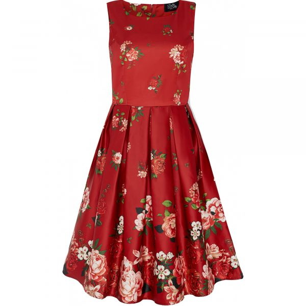 Swing Dress, ANNIE Rising Flower Red (905-68)