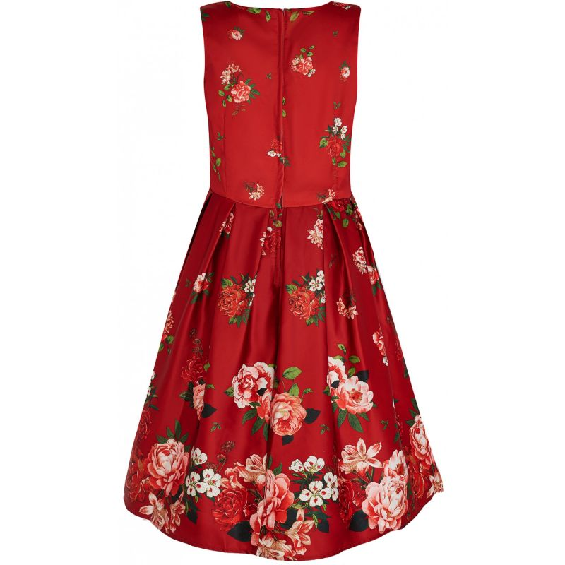 Kellomekko, ANNIE Rising Flower Red (905-68)