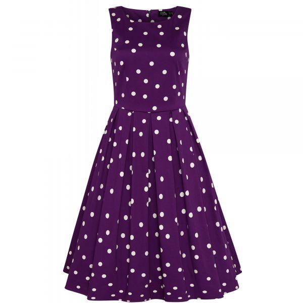 Swing Dress, ANNIE Polka Purple (905-22)