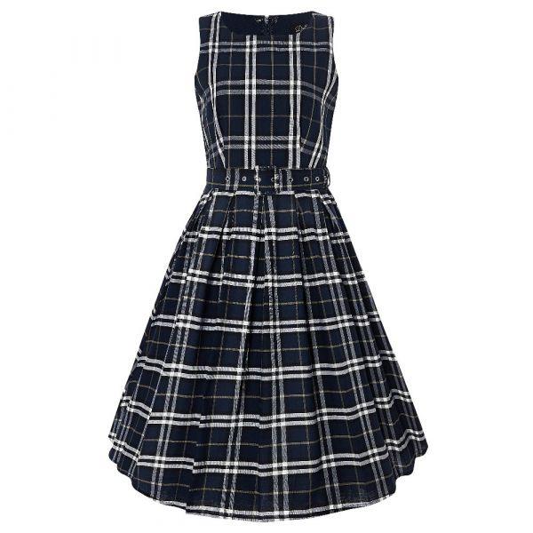 Swing Dress, ANNIE Blue Checks (905DBLC)