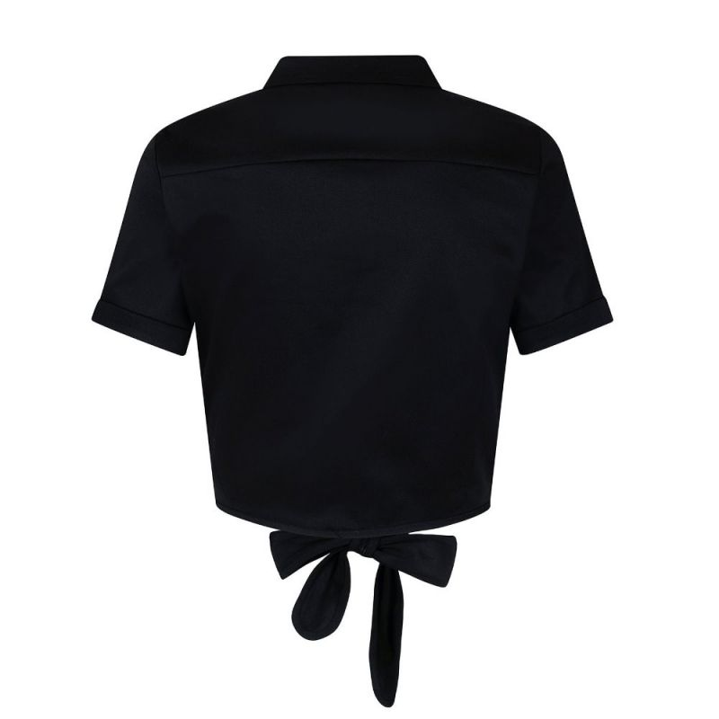 Blouse, SAMMY Tie Black