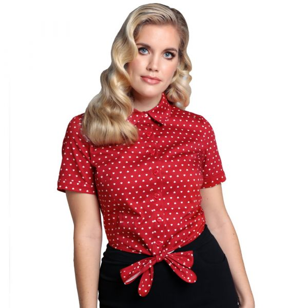 Blouse, SAMMY Tie Love Hearts