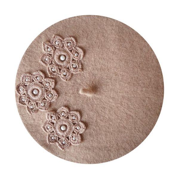 Beret, MIRANDA'S Sand Pearls