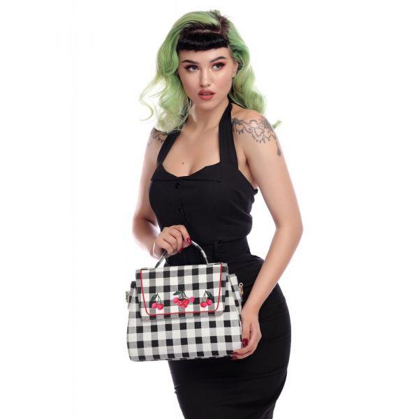 Bag, SANDRA Gingham Cherry