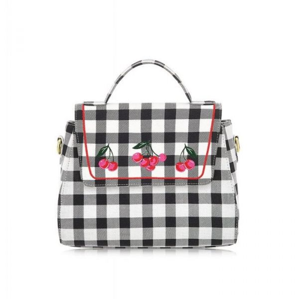 Bag, SANDRA Gingham Cherry