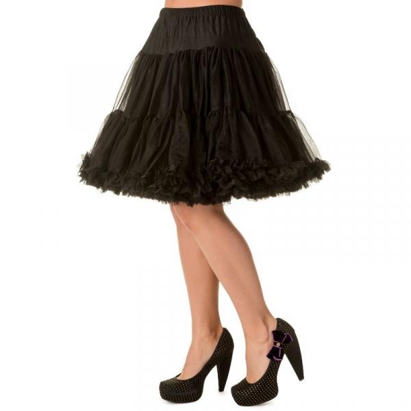 Petticoat, MIDI Musta 50 cm
