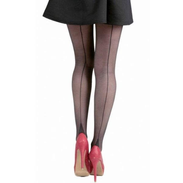 Tights, SEAMED Black/Black