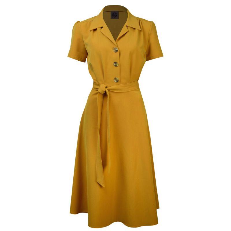 Dress, PRETTY RETRO Shirt Mustard