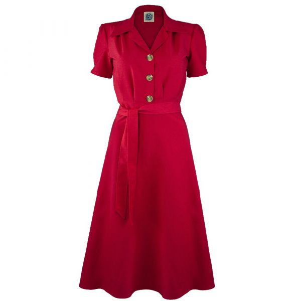 Dress, PRETTY RETRO Shirt Red