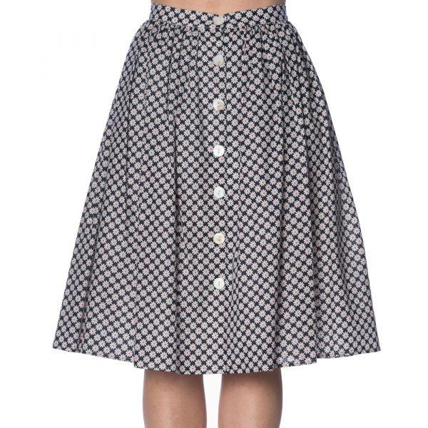 Swing Skirt, DITSY DAISY Navy (2207)