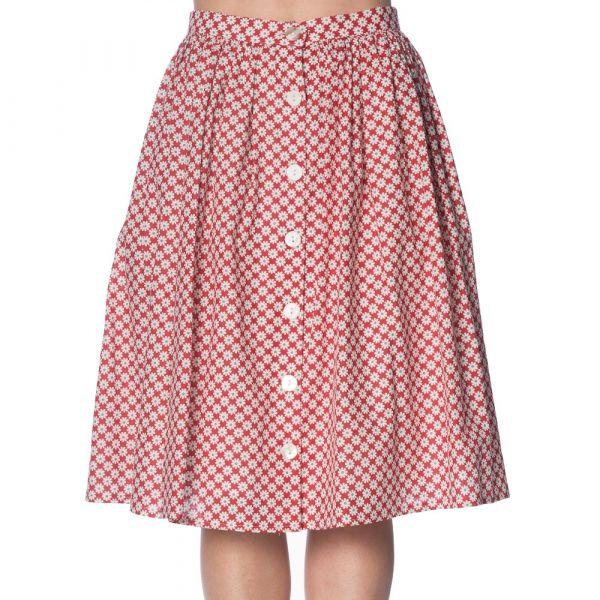 Swing Skirt, DITSY DAISY Red (2207)