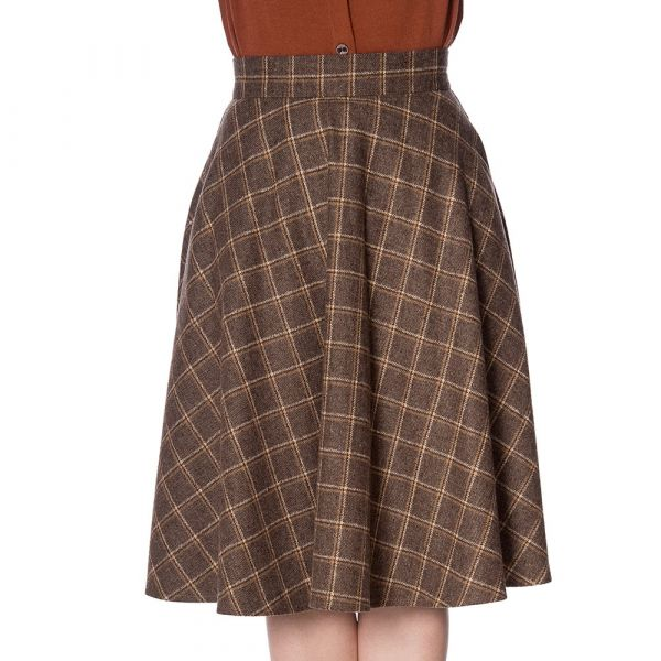 Swing Skirt, LADIES DAY Brown (25116)