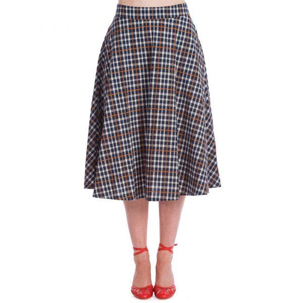 Swing Skirt, GARDEN CHECK (25282)