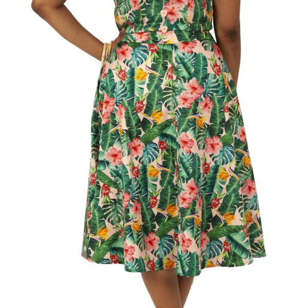 Swing Skirt, FLORAL TROPICAL (3522)