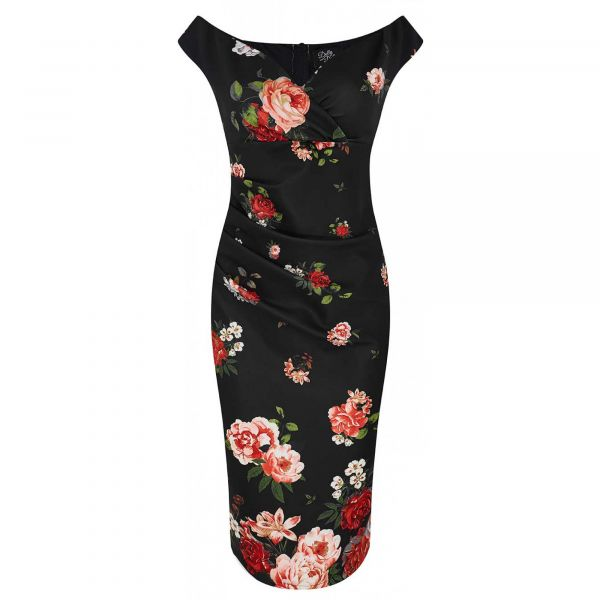 Pencil Dress, ISABELLA Raising Flower (SLIM3)