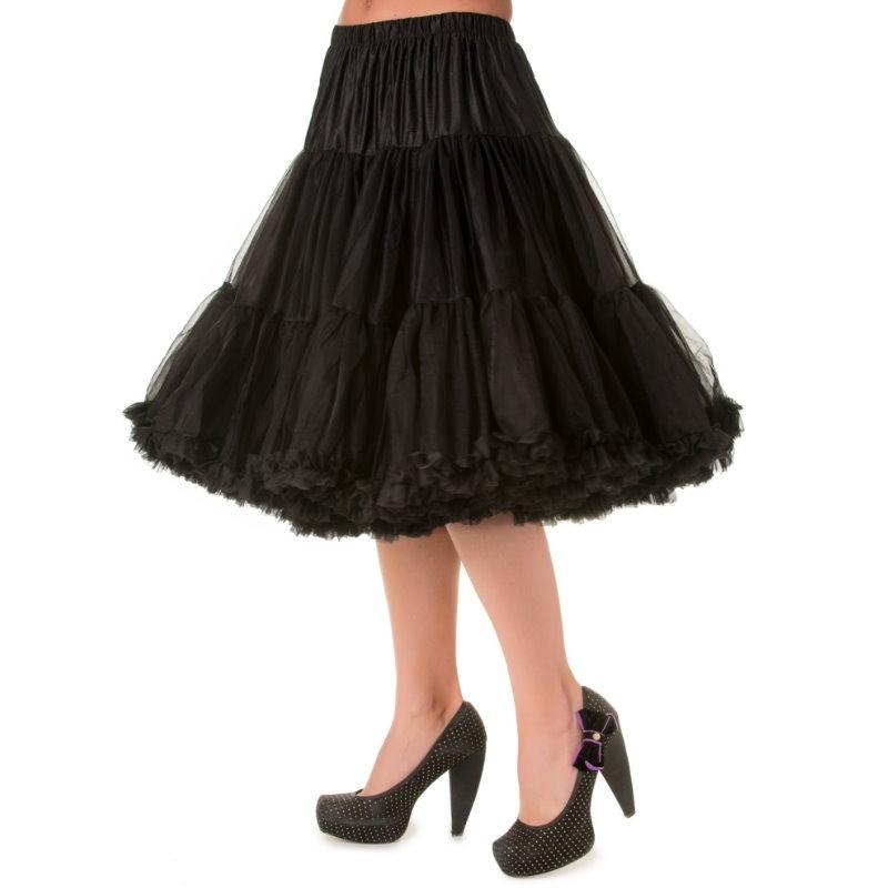 Petticoat, STARLIGHT Black 58 cm