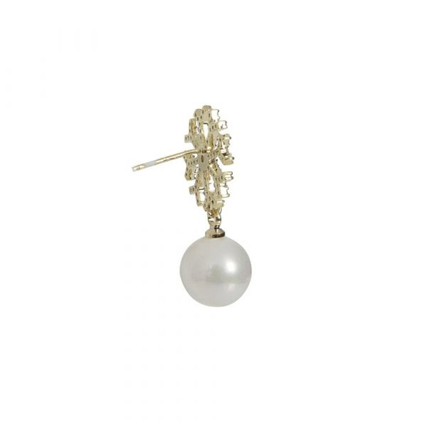 Earrings, SNOWFLAKE Pearl