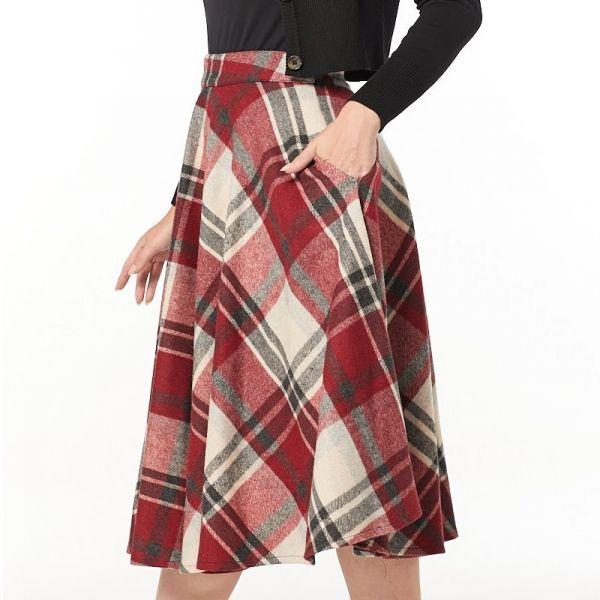 Swing Skirt, SOPHIE Cherry Red