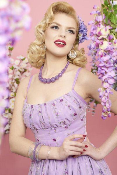Rannerengas, SPLENDETTE Lilac Glitter Narrow