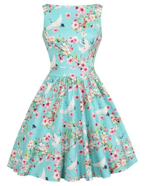 Swing Dress, Summer Heron