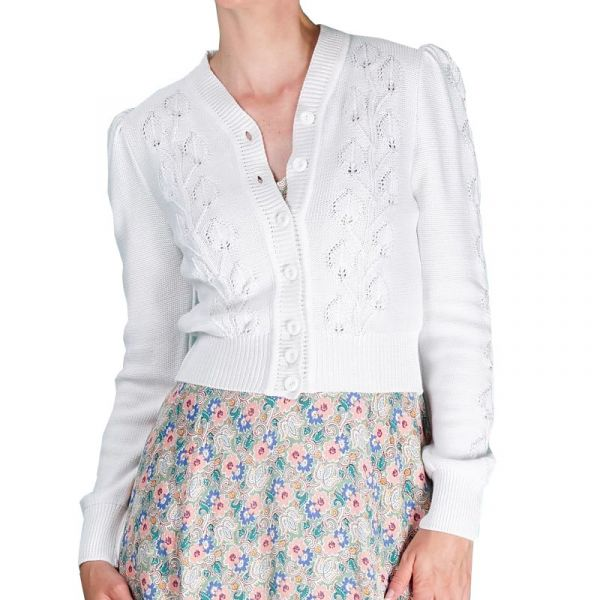 EMMY Cardigan, Susie Q Bright White