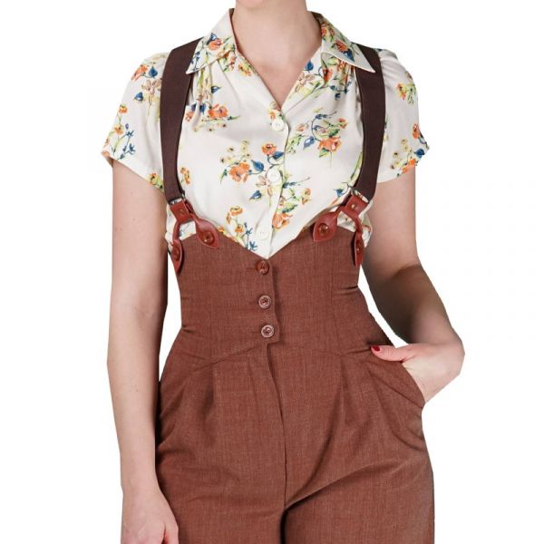 EMMY Sassy Suspenders, Coffee/Cocnag