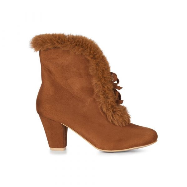 Boots, TATIANA FUR Caramel