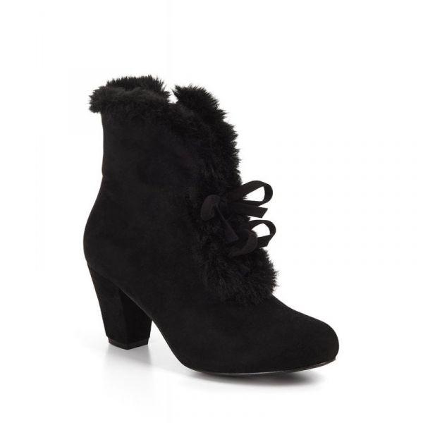 Boots, TATIANA FUR Black