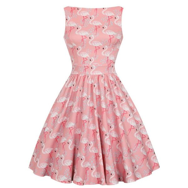 Tea Dress, FLAMINGO