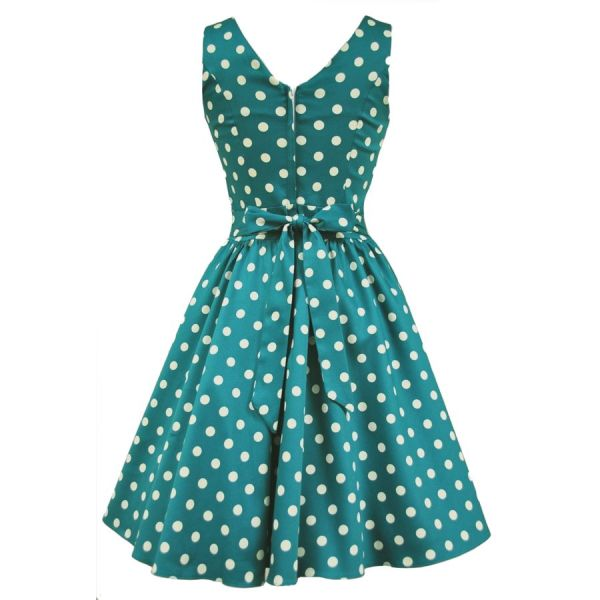 Tea Dress, JADE POLKADOT