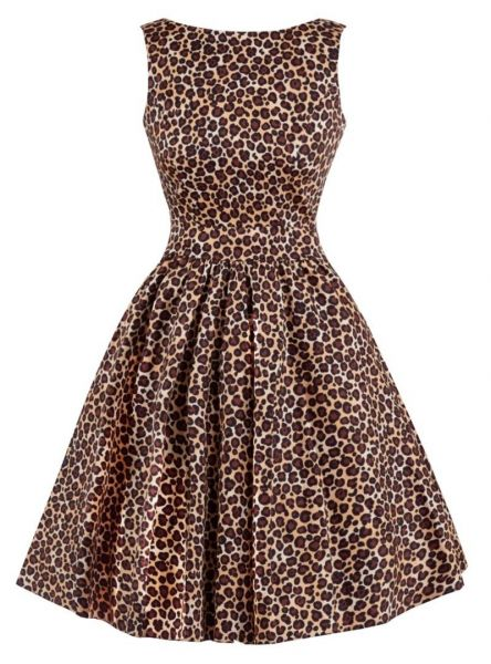 Swing Dress, TEA Leopard