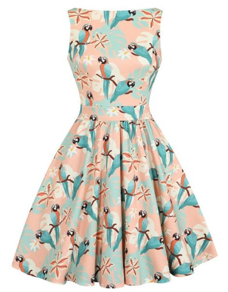 Swing Dress, TEA Parrot