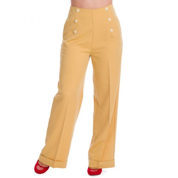 Trousers, BUTTON Yellow (31935)