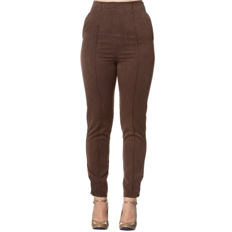 Housut, TEMPTING Highwaist Brown
